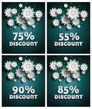 Snowflakes over night dark sky Royalty Free Stock Photography