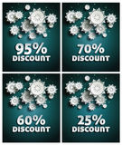 Snowflakes over night dark sky Stock Images