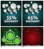 Snowflakes over night dark sky Stock Photo
