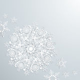Snowflakes on paper Christmas concept background Royalty Free Stock Image
