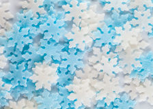 Snowflakes pastry decoration background Royalty Free Stock Image