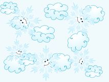 Snowflakes pattern Stock Images