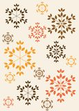 Snowflakes pattern. Colorful snowflakes pattern  illustration Royalty Free Stock Photo