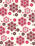 Snowflakes pattern. Colorful snowflakes pattern  illustration Royalty Free Stock Images