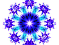 Snowflakes pattern Royalty Free Stock Photos