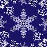 Snowflakes_pattern stock abbildung