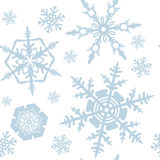 Snowflakes pattern Royalty Free Stock Photo