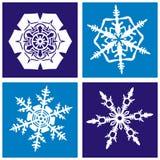 Snowflakes pattern Royalty Free Stock Image