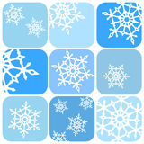 Snowflakes pattern. Vector illustration of snowflakes pattern Royalty Free Illustration