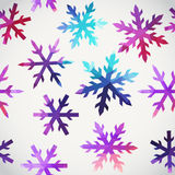 snowflakes pattern. Abstract snowflake of geometric shapes. Chri Stock Photography