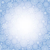 Snowflakes  pattern background.Winter backdrop Stock Image