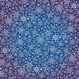 Snowflakes pattern background.Winter crystal stars Royalty Free Stock Photo