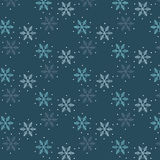 Snowflakes Pattern. Blue Snowflakes Pattern With White Dots vector illustration