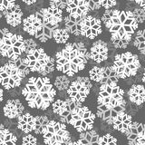 Snowflakes pattern 3D. Snow texture. Winter background. Snowfall. Ornament Stock Photos
