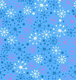 Snowflakes pattern. Decorative snowfall hand drawn background Royalty Free Stock Photography