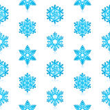 Snowflakes Pattern. Glossy 3d Modern Blue Snowflakes Pattern royalty free illustration