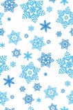 Snowflakes pattern  illustration. Blue snowflakes pattern  illustration Royalty Free Stock Images