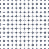 Snowflakes pattern navy blue Stock Images