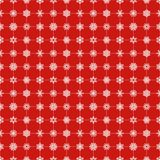 Snowflakes pattern red Royalty Free Stock Photos