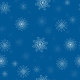 Snowflakes pattern. The seamless pattern with snowflakes royalty free illustration