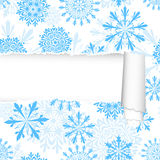 Snowflakes Pattern With Torn  Stripe Royalty Free Stock Images
