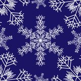 Snowflakes_pattern stock illustration
