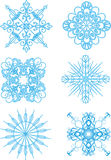 Snowflakes patterns Royalty Free Stock Photo