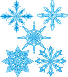 Snowflakes patterns Stock Images