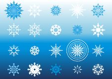 Snowflakes patterns collection(2) Royalty Free Stock Photo