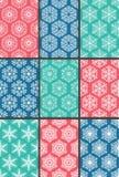 9 snowflakes patterns Stock Photo