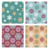 Snowflakes patterns Royalty Free Stock Image