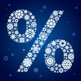 Snowflakes percent Stock Image