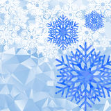Snowflakes polygonal background Stock Photo
