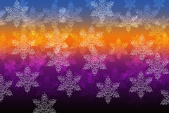 Snowflakes on a rainbow background. Snowflakes on a rainbow colored background Royalty Free Stock Photos