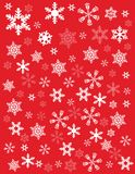 Snowflakes on read background Stock Image