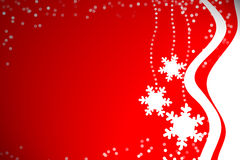 Snowflakes in Red Stock Image