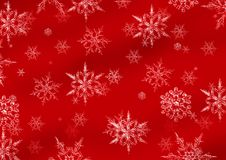 Snowflakes on red Royalty Free Stock Photo