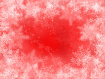 Snowflakes on red Stock Image