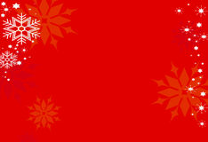 Snowflakes on red Royalty Free Stock Images