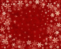 Snowflakes on Red Stock Photos