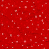Snowflakes on red background Royalty Free Stock Photos