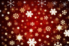 Snowflakes on red background. Snowflakes on dark red background Stock Photography