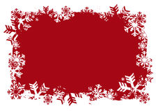 Snowflakes Red Background Royalty Free Stock Photography