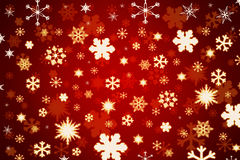 Snowflakes on red background. Greeting card: Snowflakes on red background Stock Photography