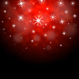 Snowflakes Red Background Means Winter Season Wallpaper Royalty Free Stock Photo