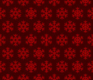 Snowflakes Red Background with Seamless Pattern Stock Photos