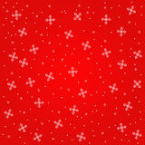 Snowflakes on red background. Royalty Free Stock Image