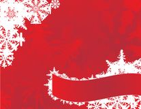Snowflakes on a red card Royalty Free Stock Photo