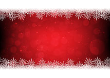 Snowflakes on red christmas bokeh background. Rgb mode Stock Photography