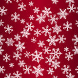 Snowflakes red seamless pattern. (background vector illustration
